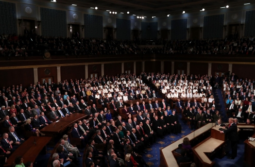U.S. President Trump delivers his second State of the Union address to a joint session of the U.S. Congress in Washington