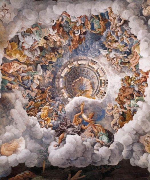camera dei giganti palazzo te mantova giulio romano 1532-1534