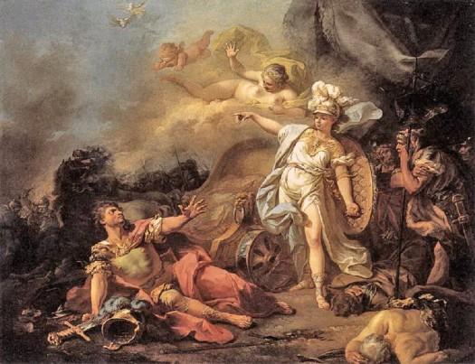 Ares - O Combate de Ares e Atena - Jacques Louis David